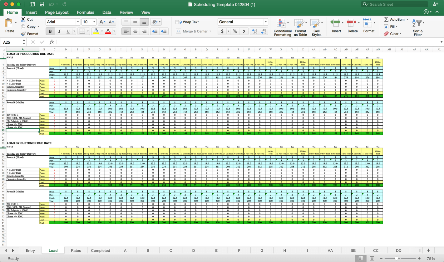 Capacity Plan Template Excel