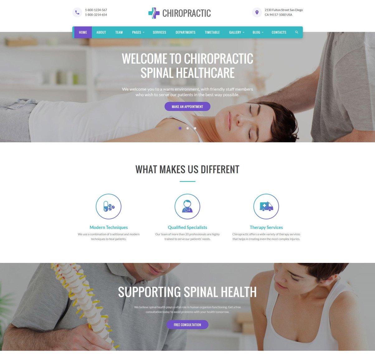 Chiropractic Website Templates Free
