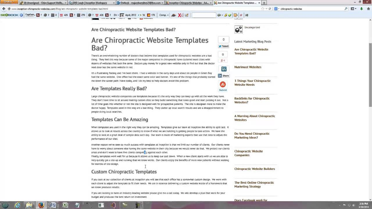 Chiropractic Website Templates