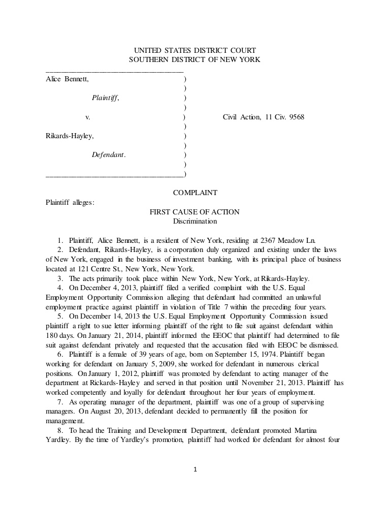 Civil Complaint Form Legal Complaint Template Word