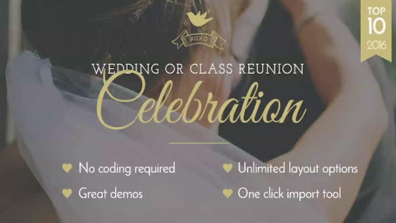 Class Reunion Website Templates