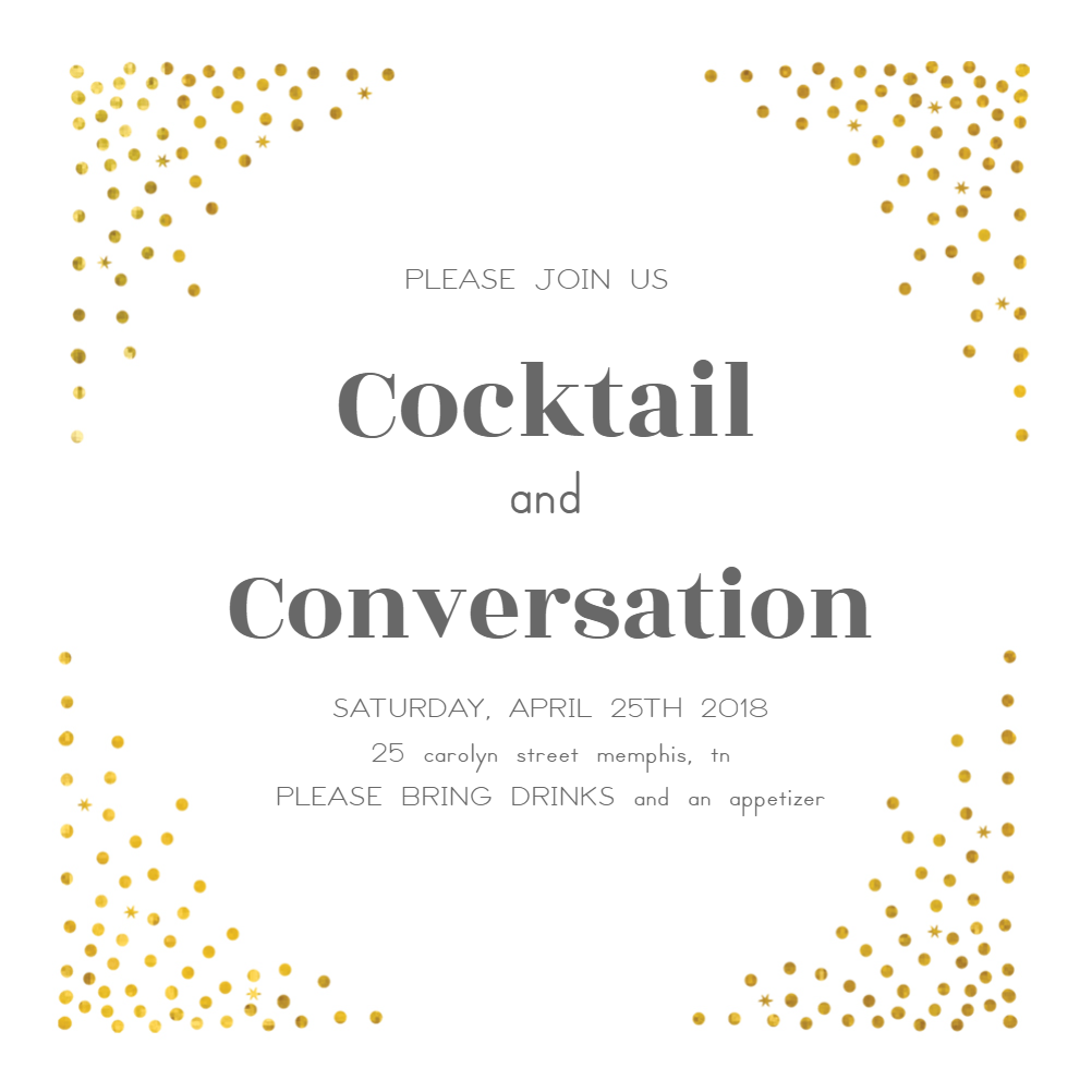 Cocktail Party Invite Free Template