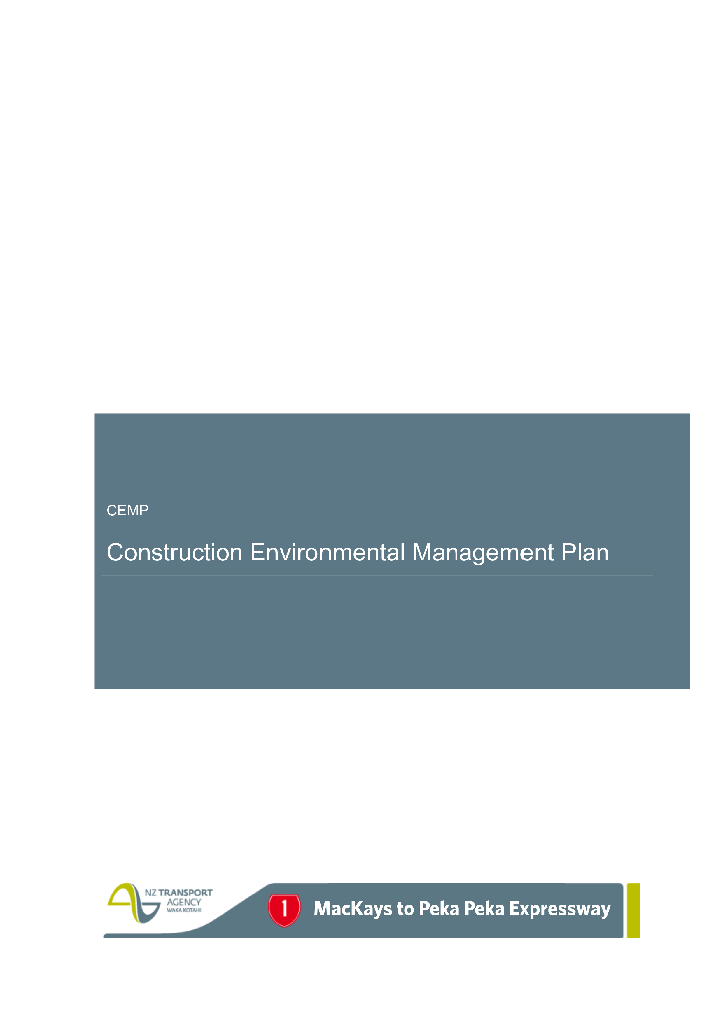Construction Environmental Management Plan Template Nz