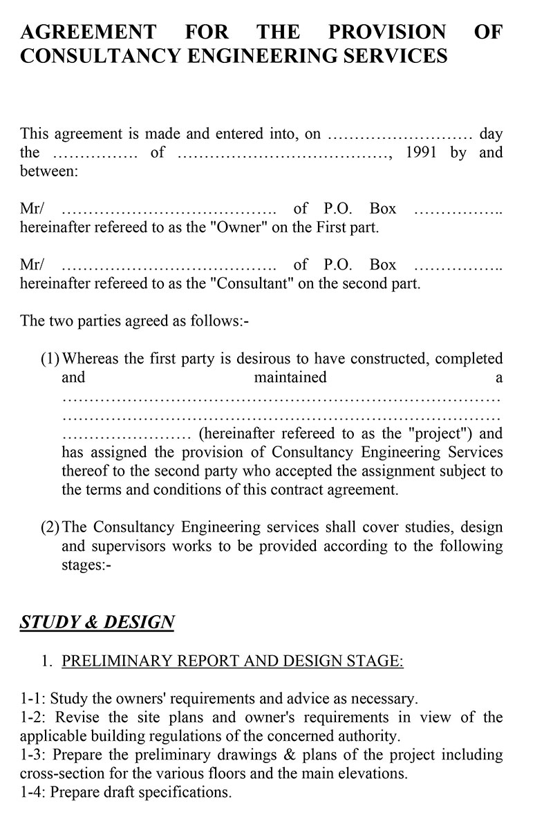 Consultancy Contract Template