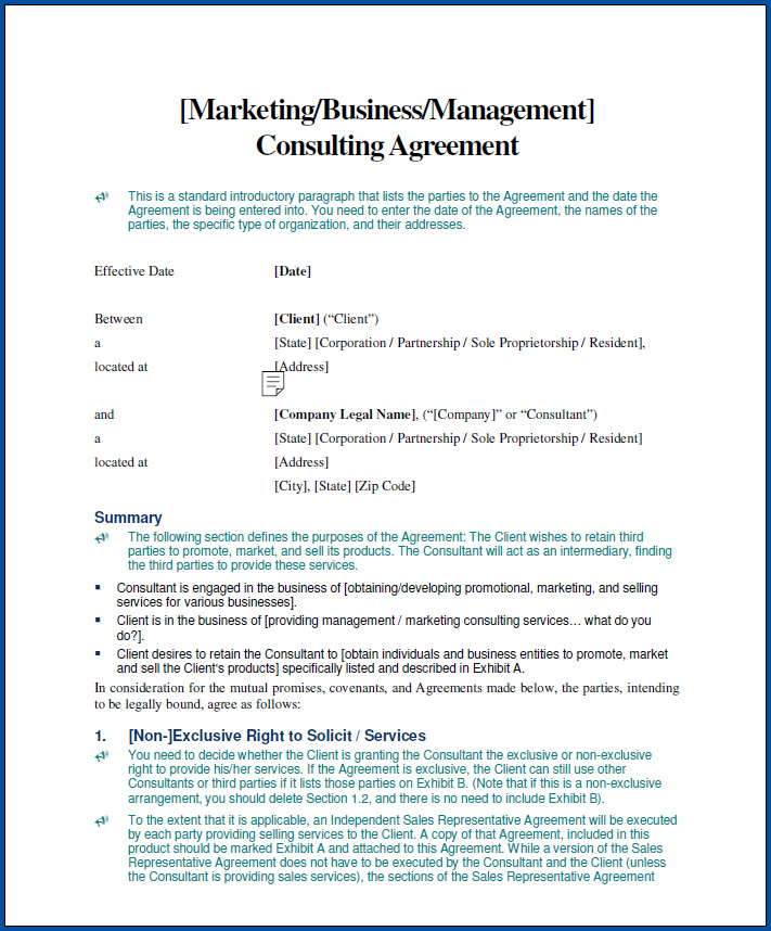 Consulting Contracts Templates