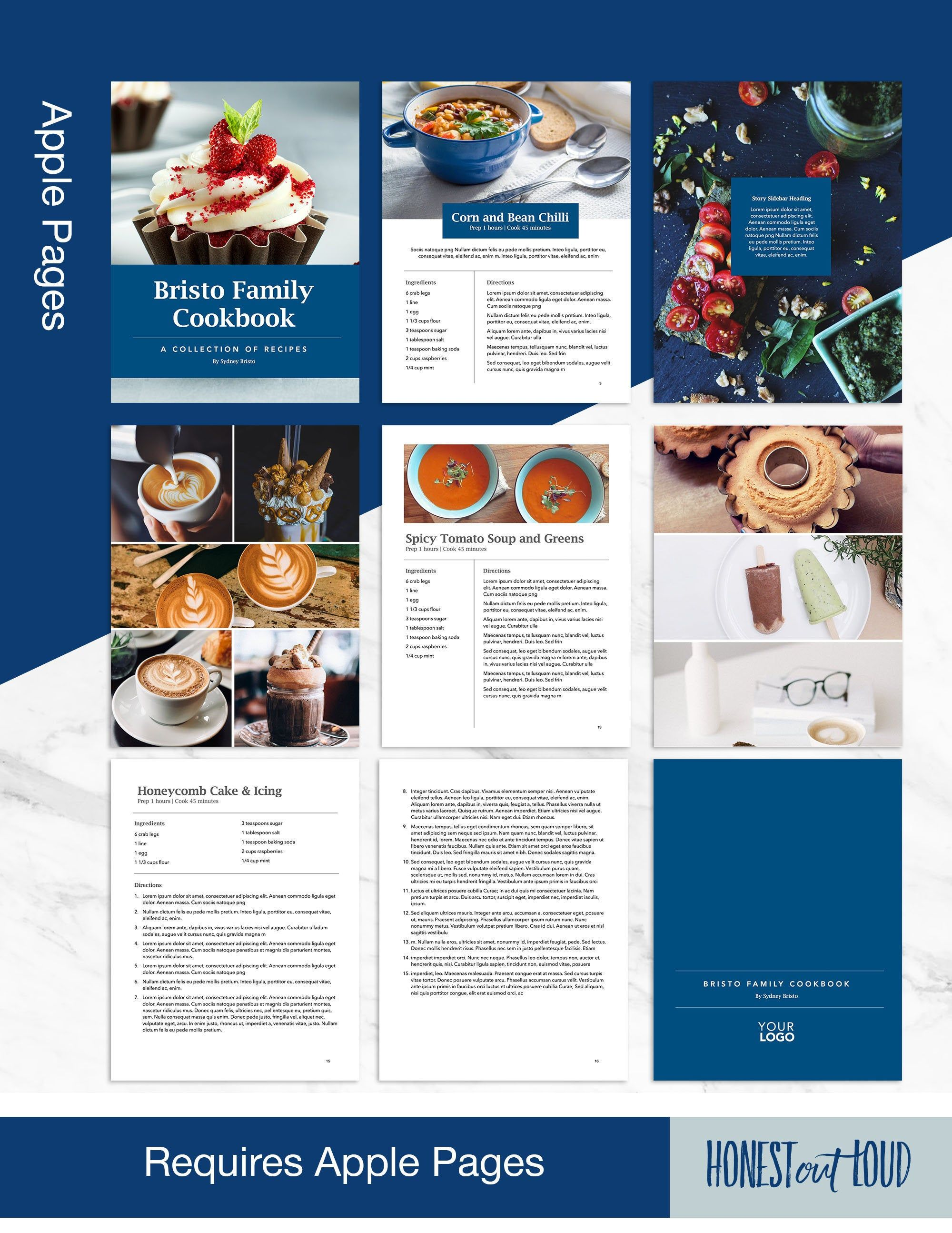 Cookbook Template Mac Pages