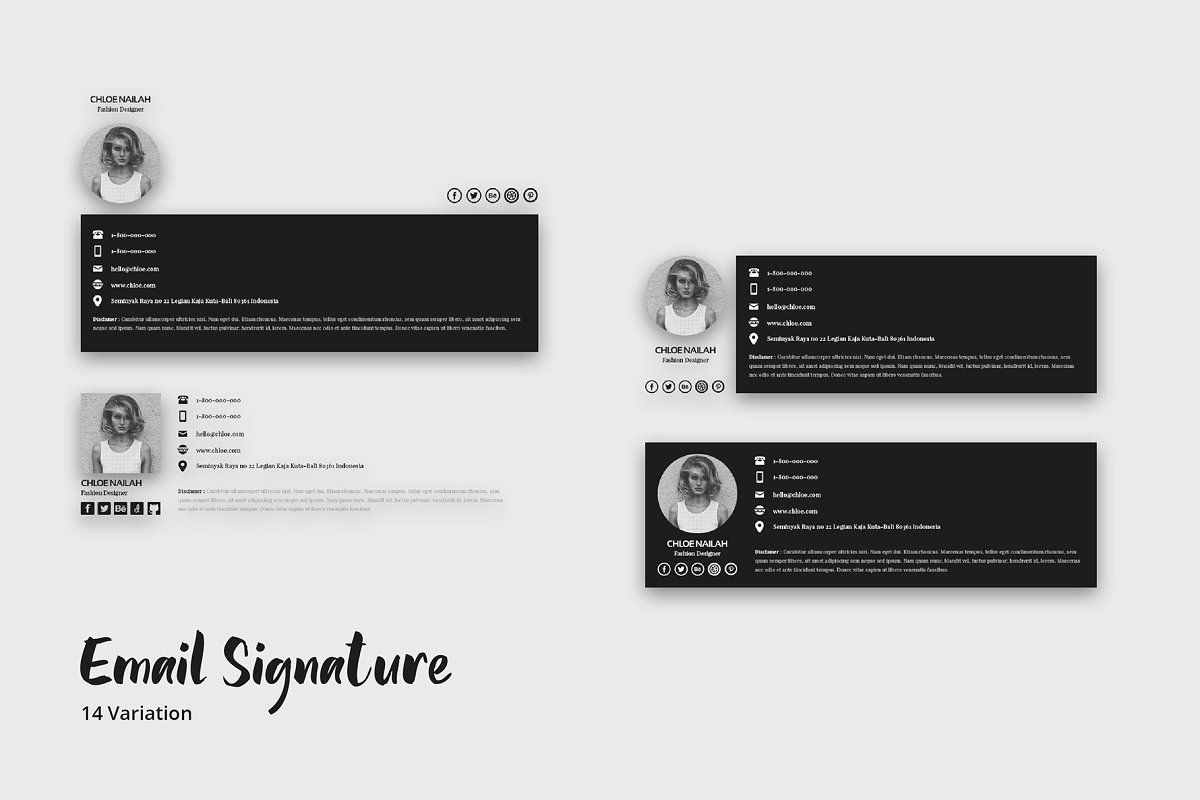 Corporate Email Signature Templates