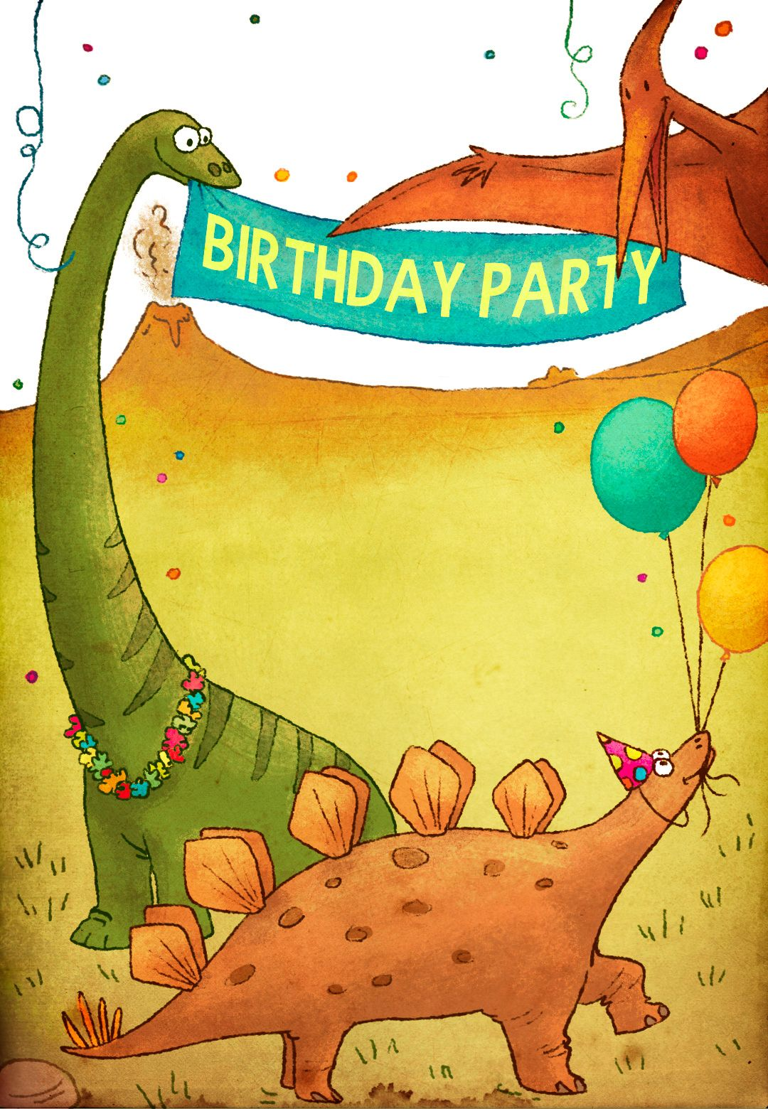 Dinosaur Birthday Invitations Template