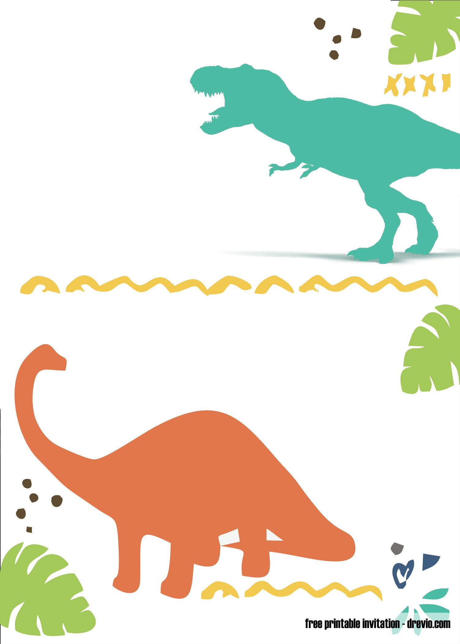 Dinosaur Invitations Template Free