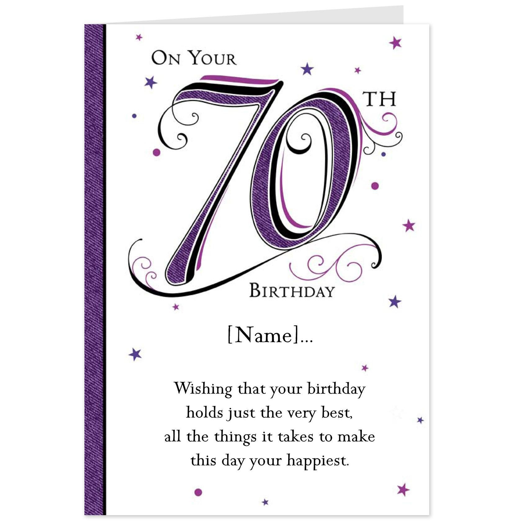 Downloadable 70th Birthday Invitations Templates Free