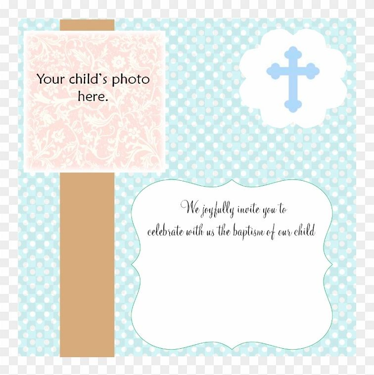 Downloadable Baptism Invitation Blank Templates For Boy