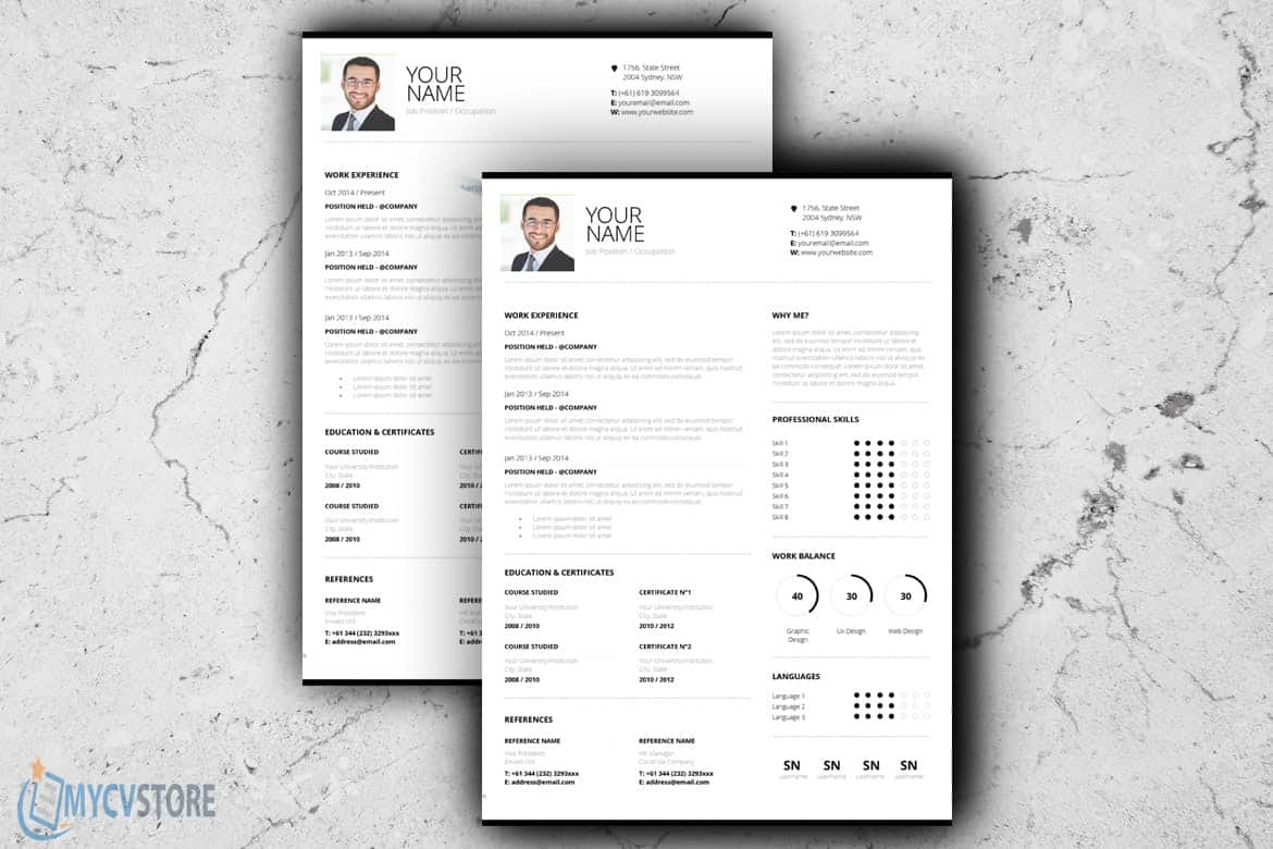 Downloadable Cv Template Design
