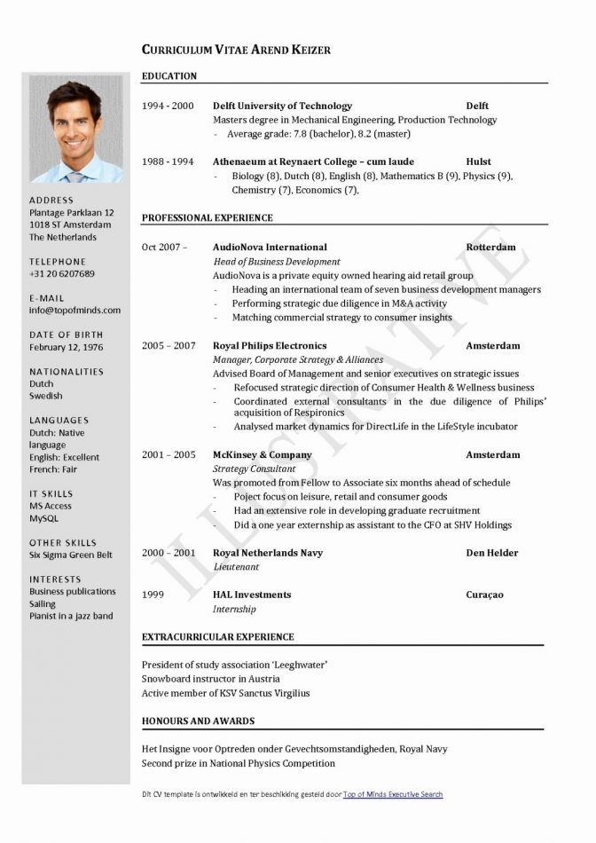 Downloadable Cv Template Doc