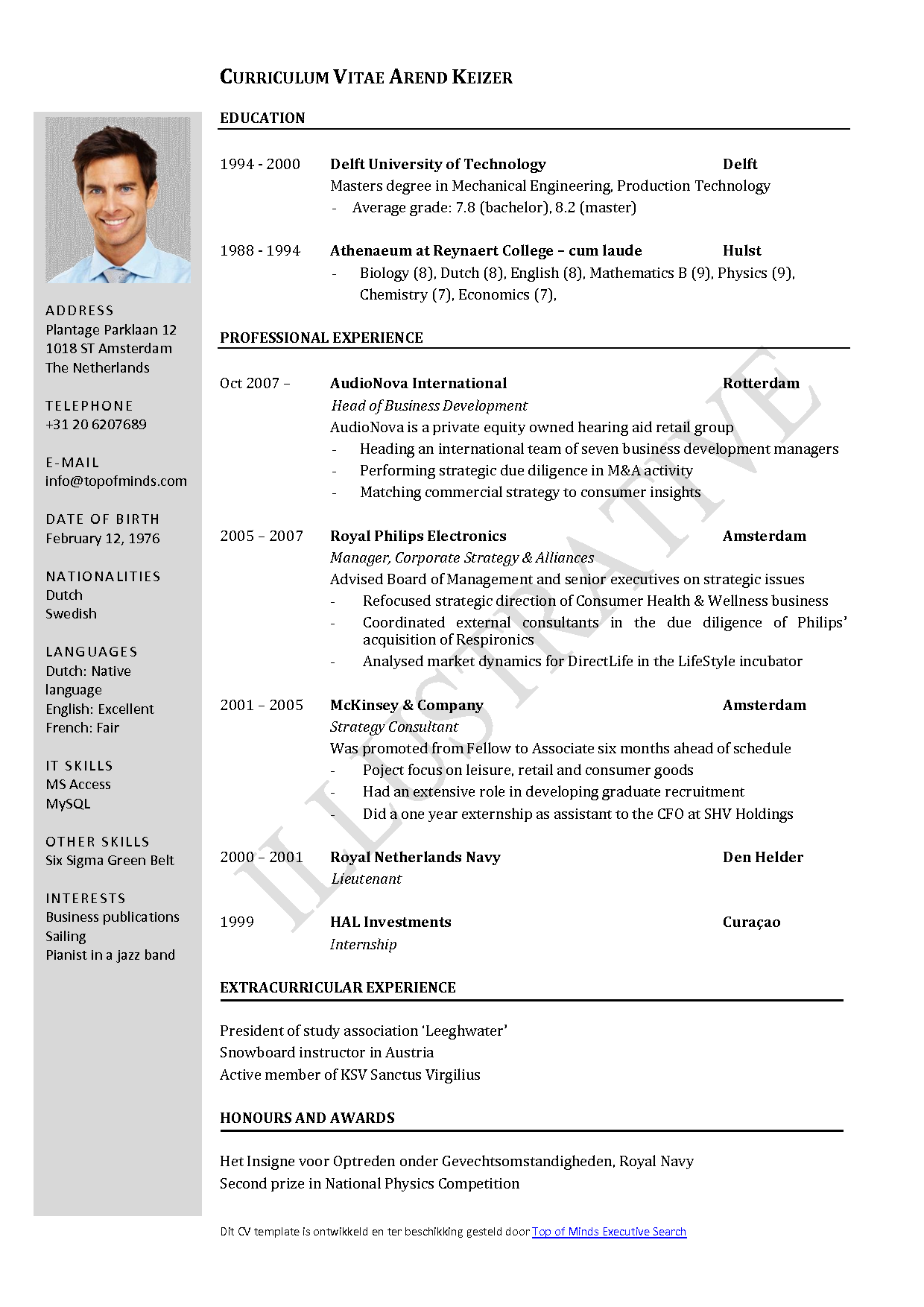 Downloadable Cv Template Free