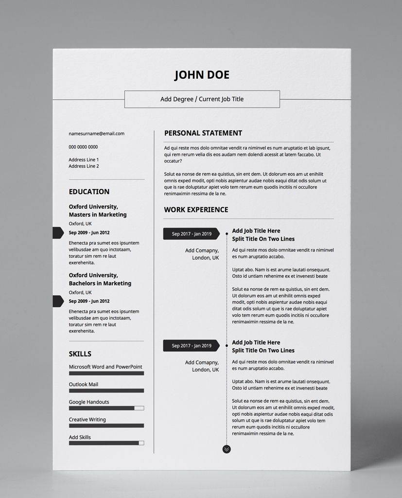 Downloadable Cv Template Pdf Editable