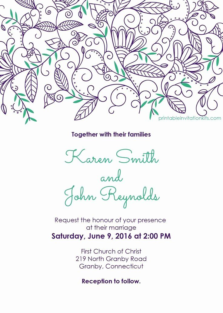 Downloadable Free Wedding Invitation Templates