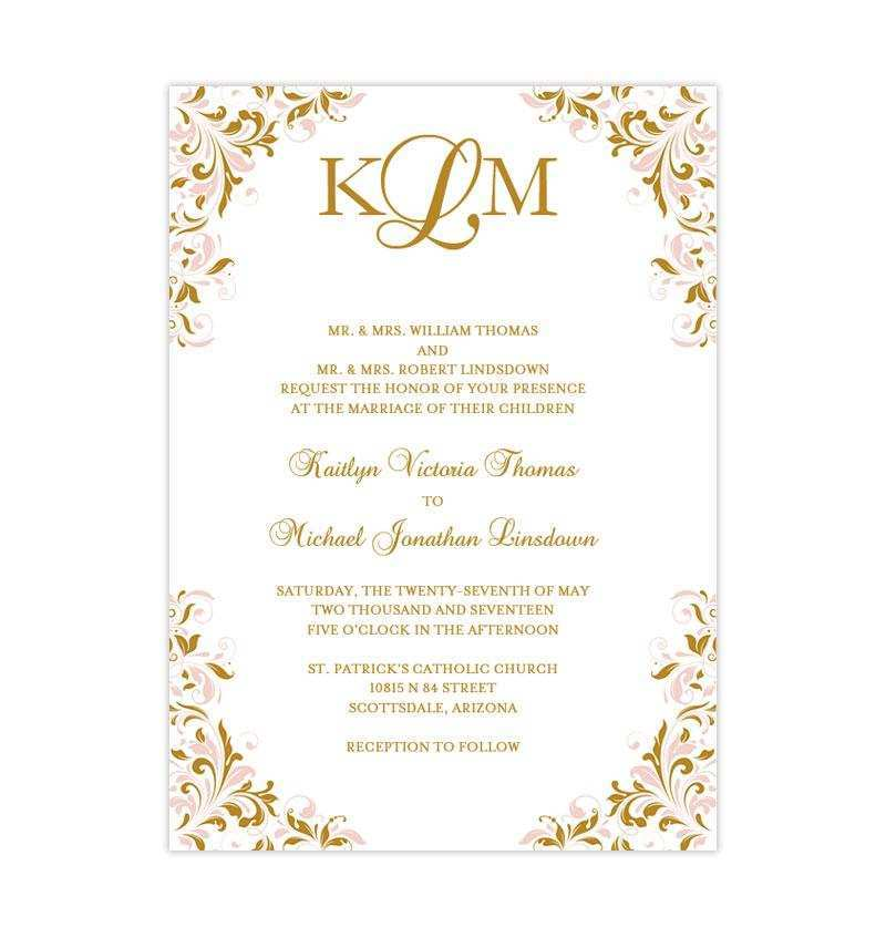 Downloadable Invitation Templates For Wedding