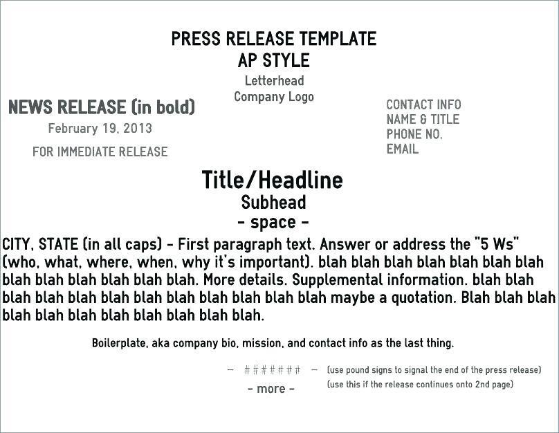 Draft Press Release Template