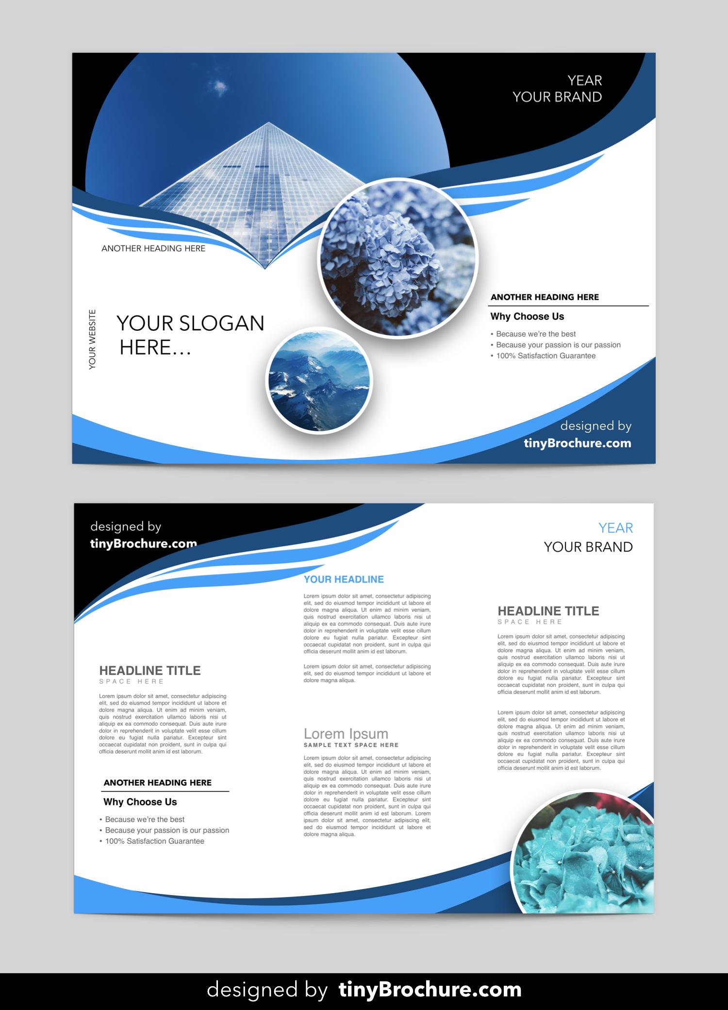 Editable Blank Brochure Templates Free Download Word