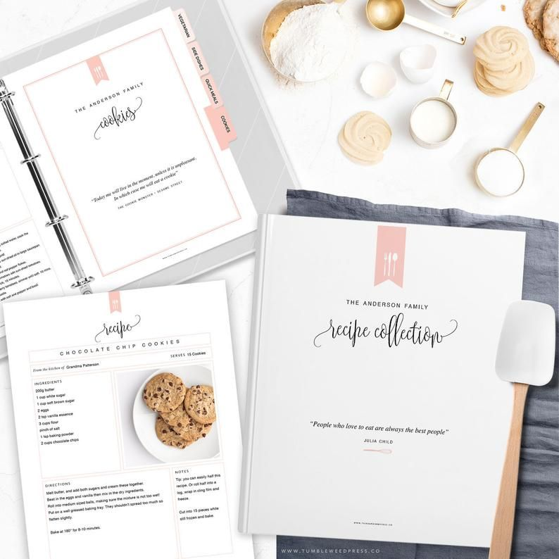 Editable Blank Recipe Template