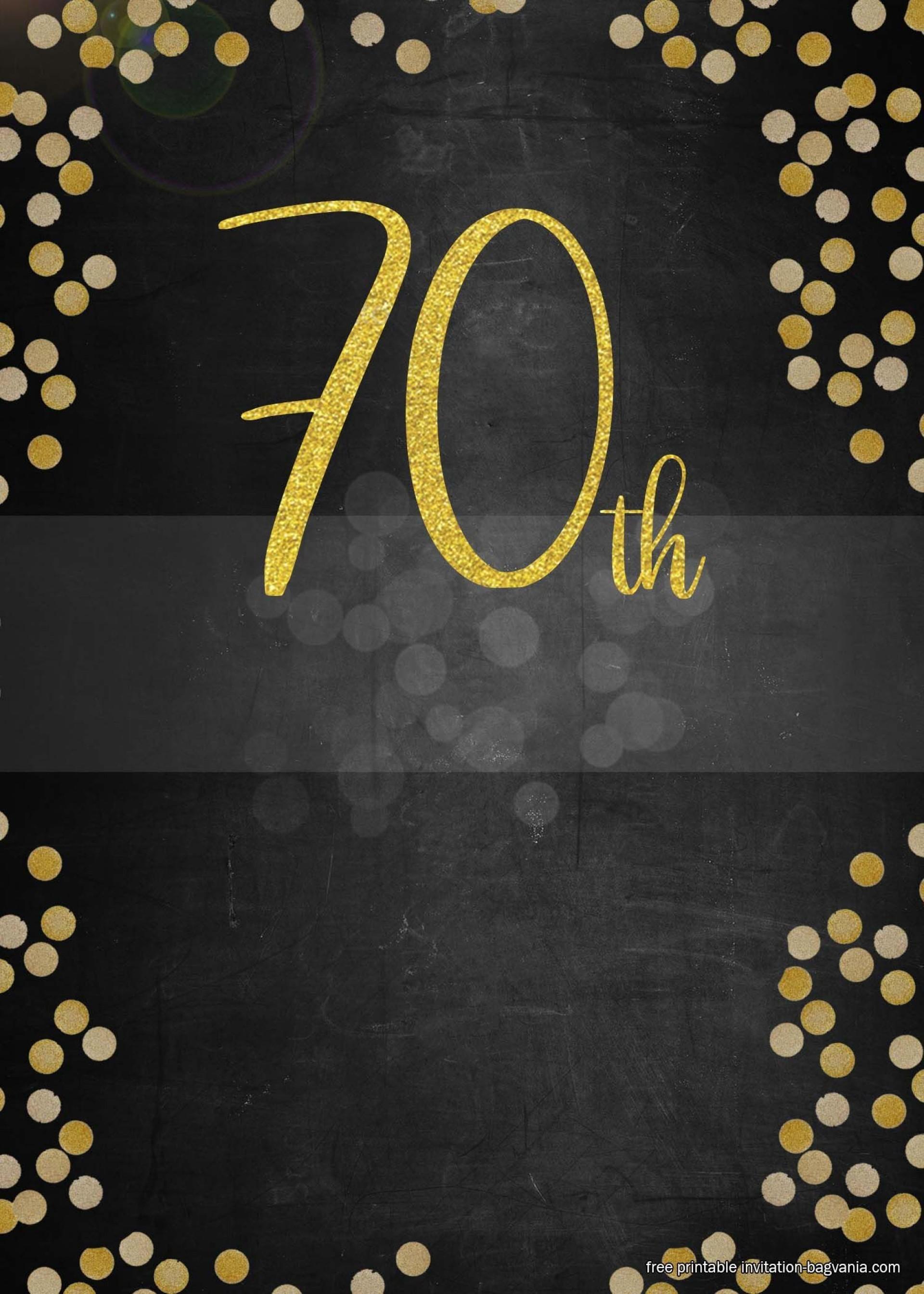 Editable Downloadable 70th Birthday Invitations Templates Free