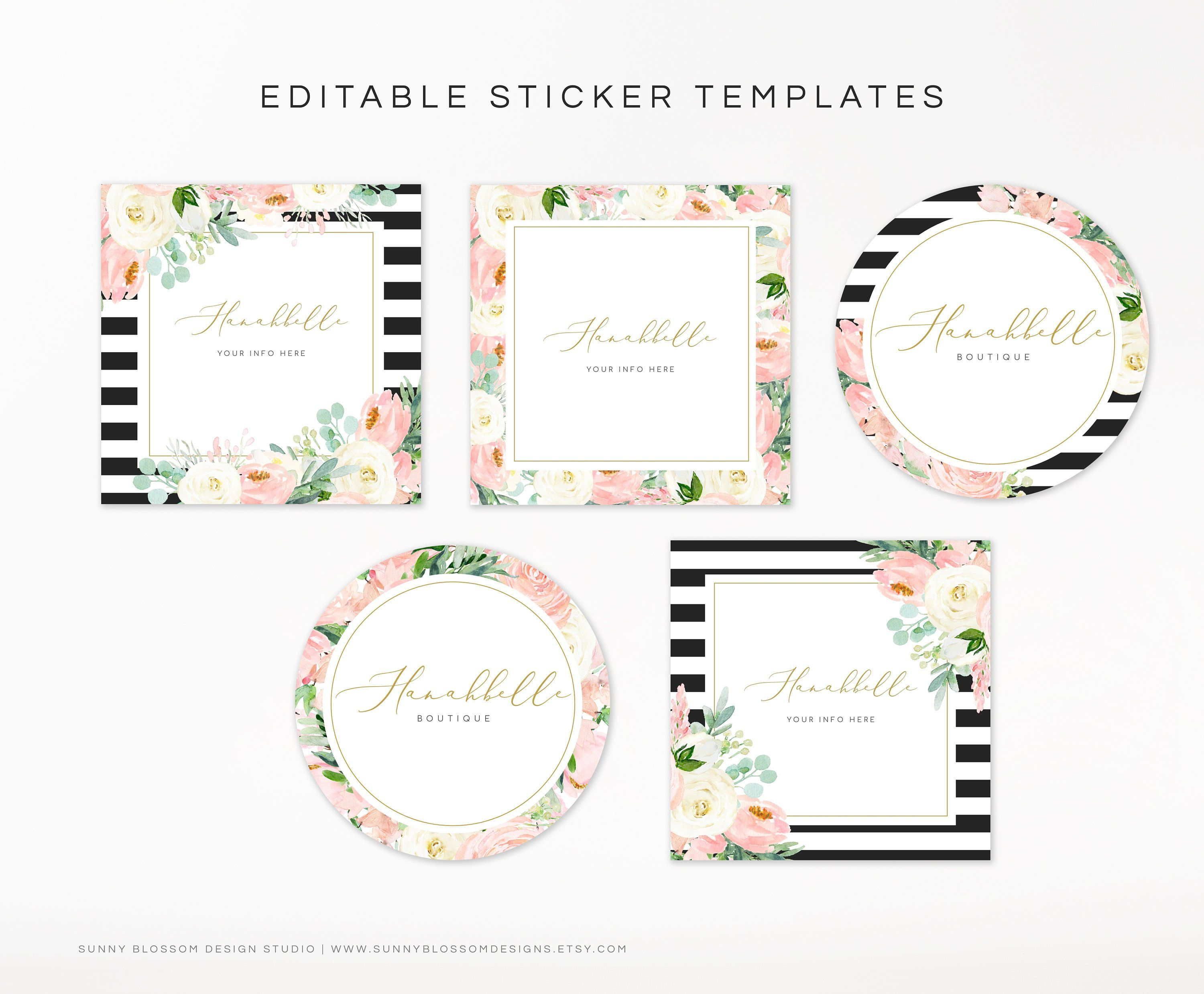 Editable Free Printable Sticker Templates