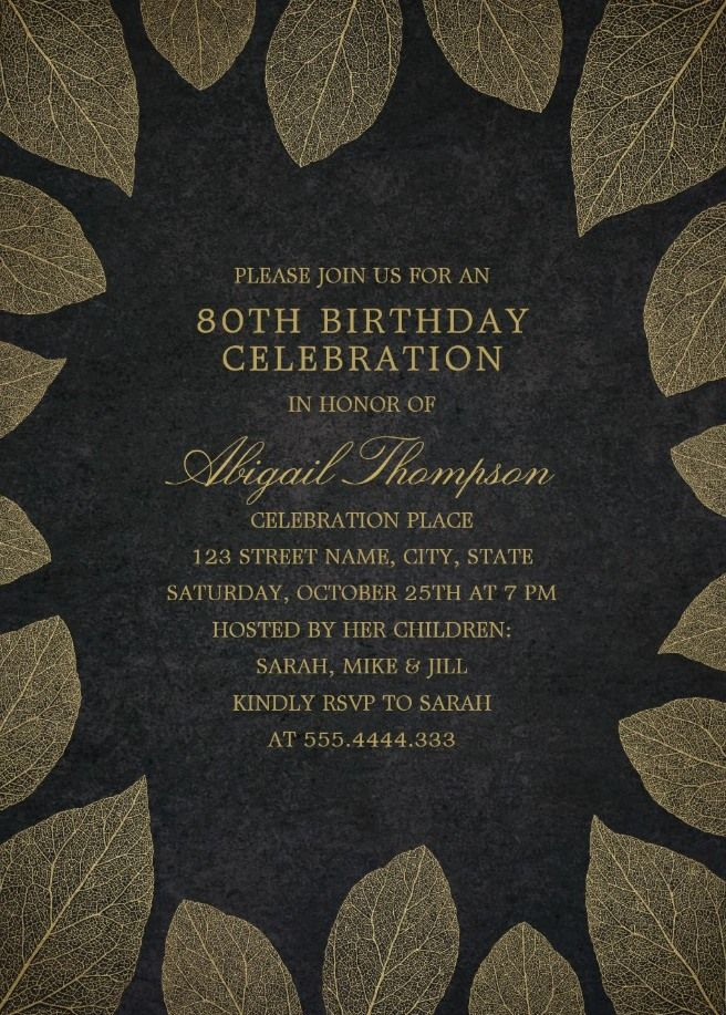 Elegant 70th Birthday Invitation Background Templates