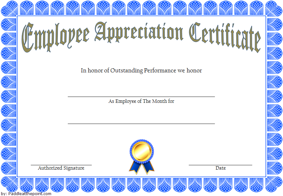 Employee Long Service Award Certificate Template