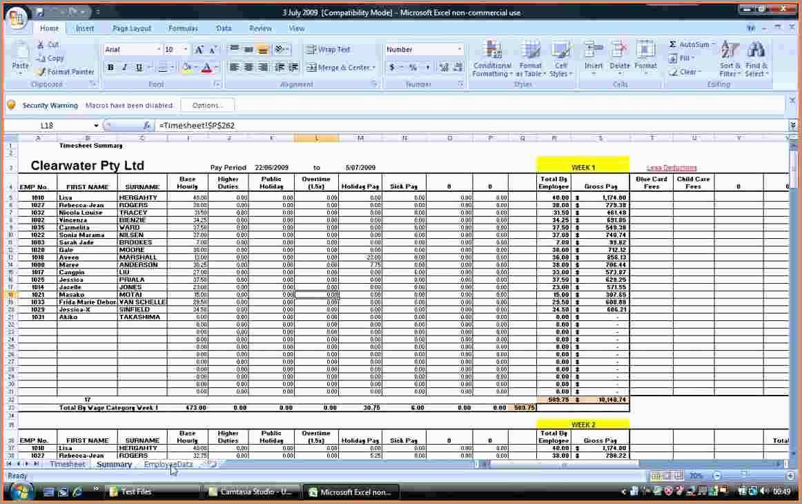Payroll Template Excel Free Cute 7 Payroll Spreadsheet Template Excel