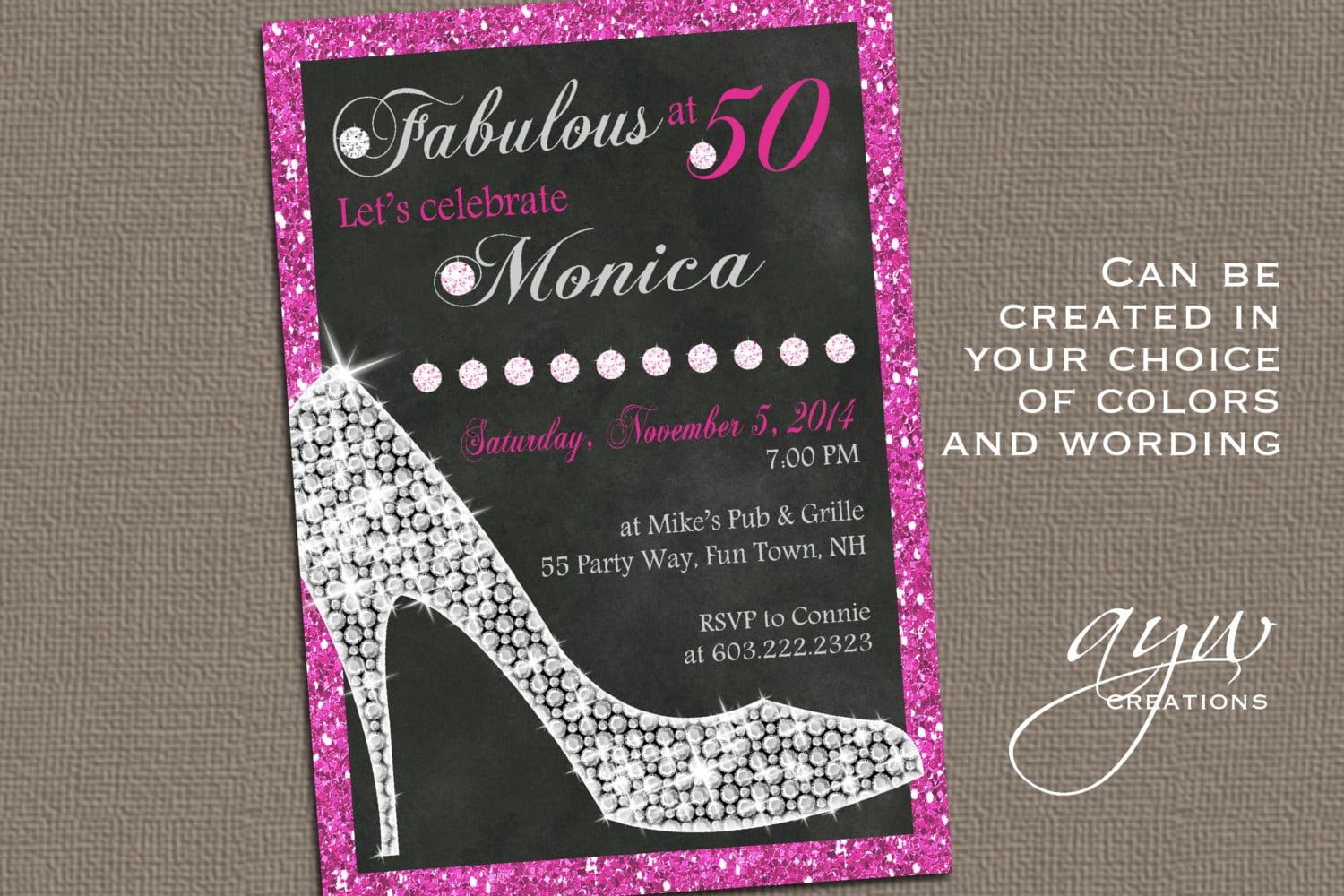 Female 40th Birthday Invitation Templates