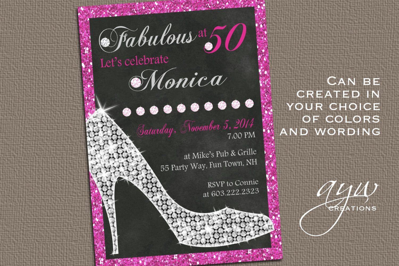 Female 40th Birthday Invitation Templates