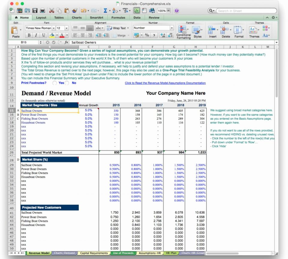 Financial Dashboard Template For Excel