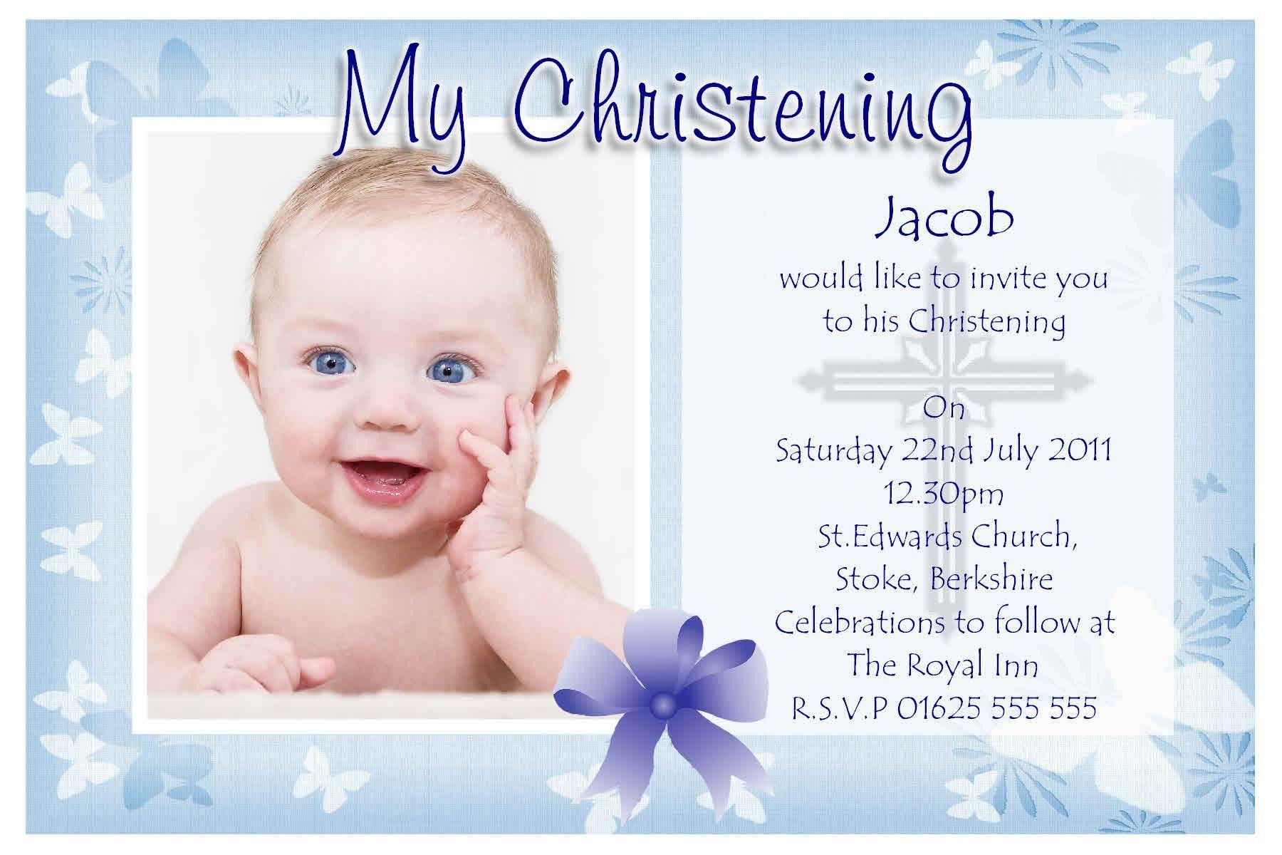 Free Baby Dedication Invitation Template