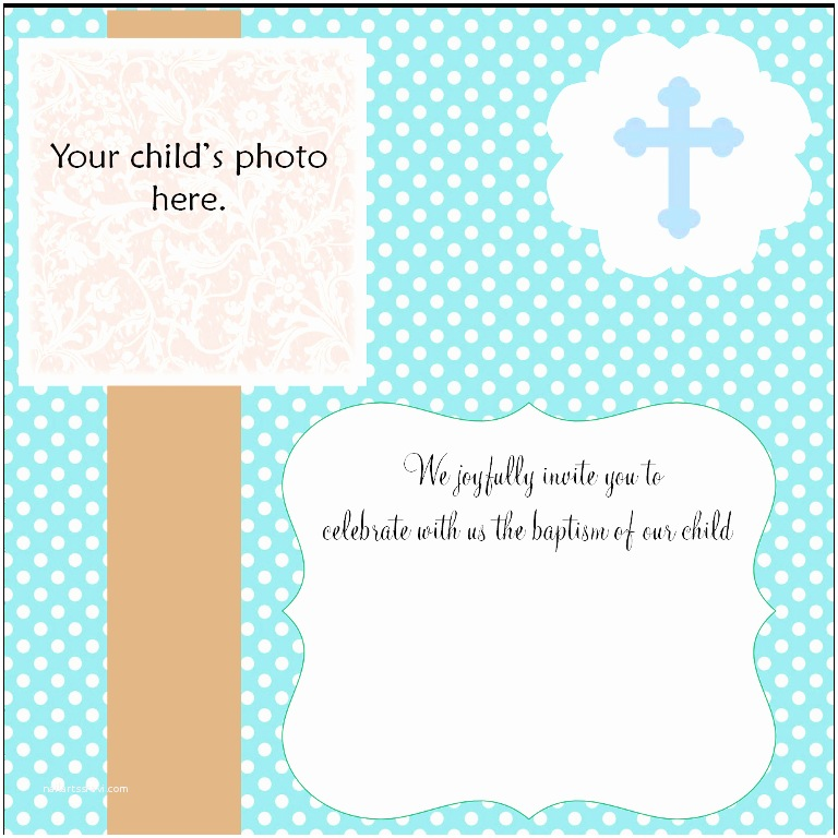Baptism Invitations Templates Free Christening Invitation Cards