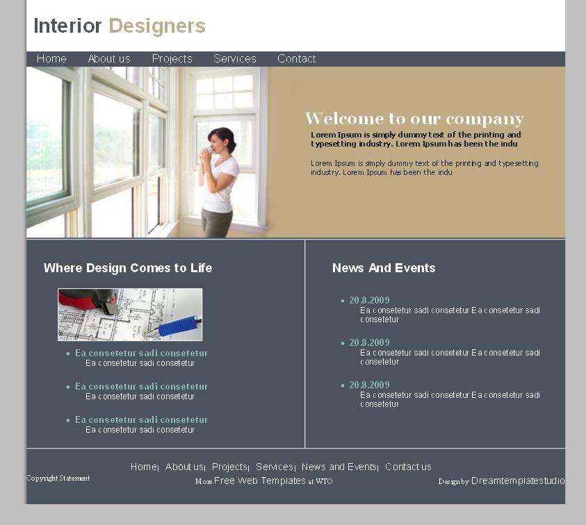 Free Furniture Templates For Interior Design
