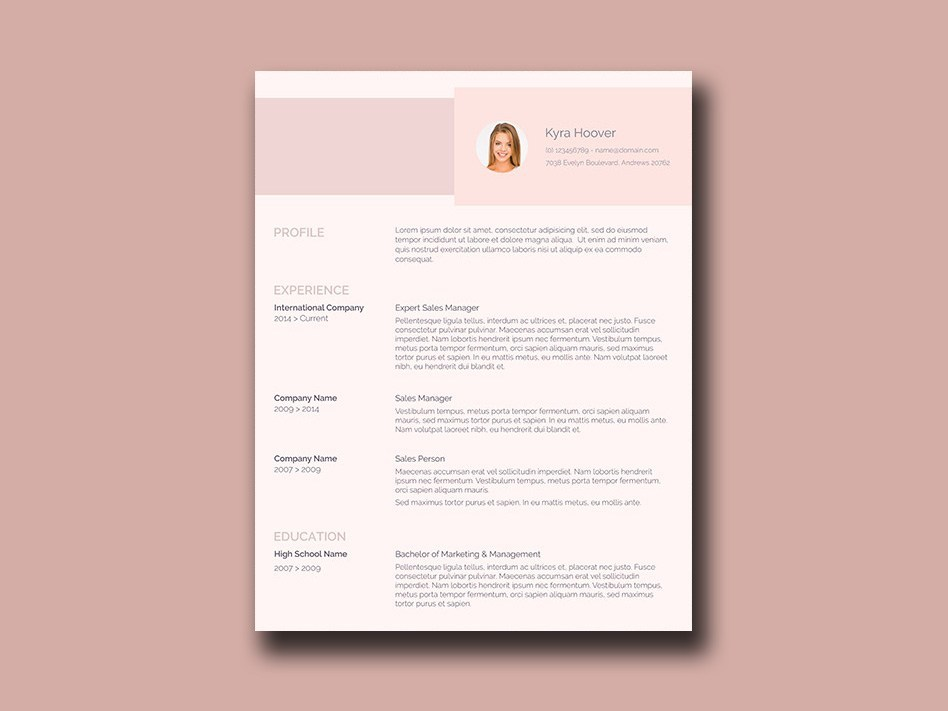 Free Modern Resume Template Australia