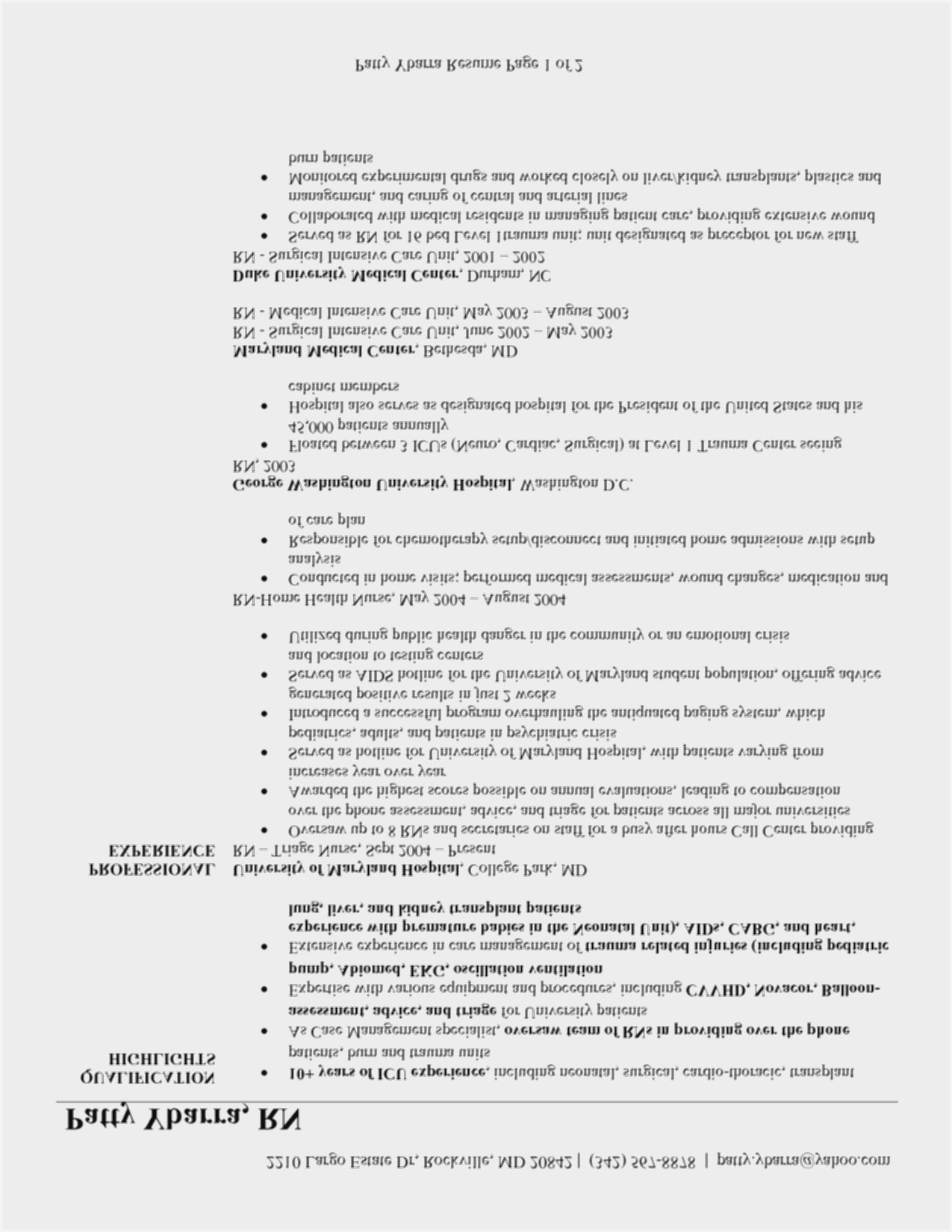 Free Nursing Resume Templates Download