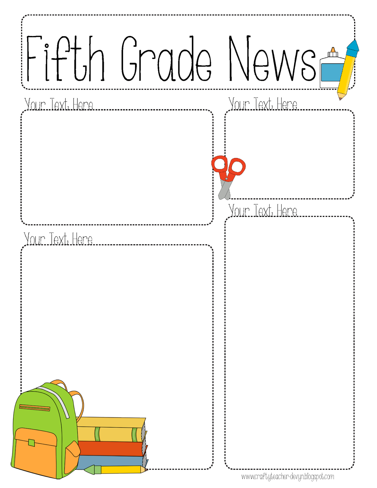 Free Parent Newsletter Template For Teachers