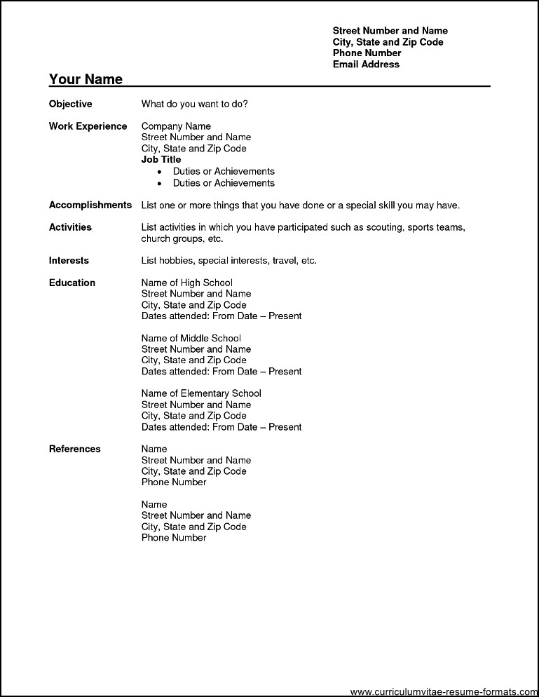 Professional Resume Format Pdf Free Download