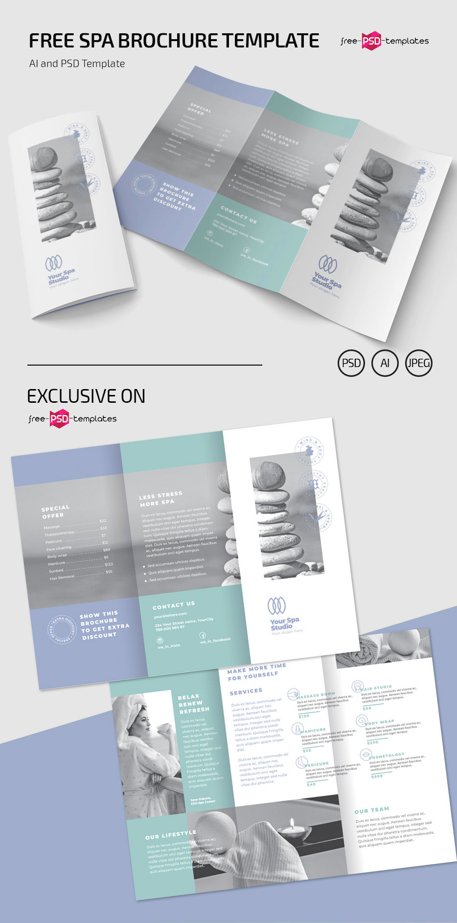 Free Spa Brochure Templates