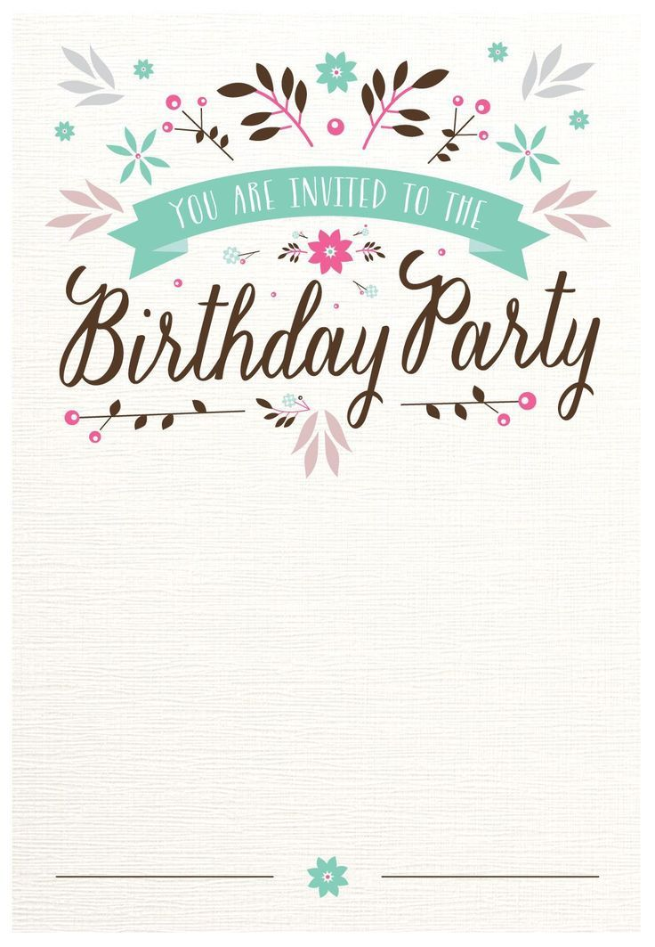 Free Template 70th Birthday Invitation Template Word