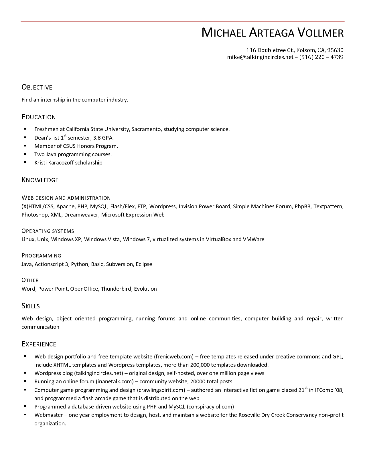 Free Windows Resume Templates
