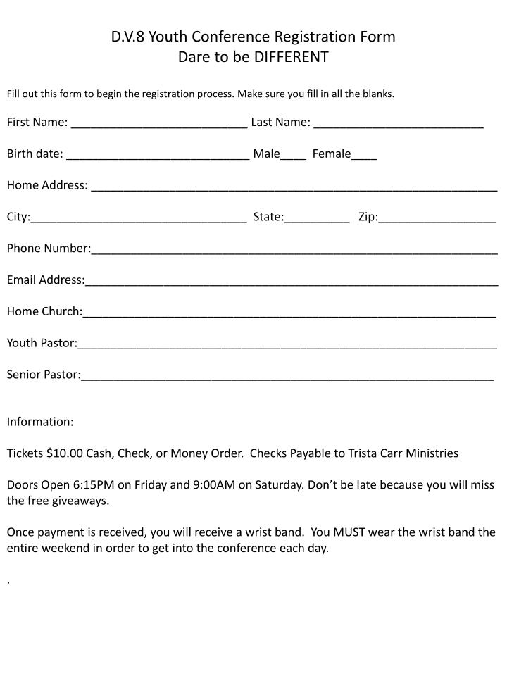 Free Youth Football Registration Form Template