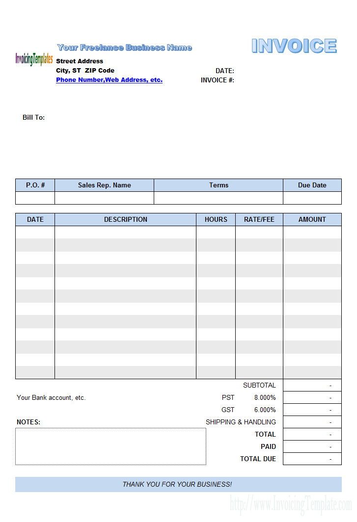 Freelance Photography Photography Invoice Template