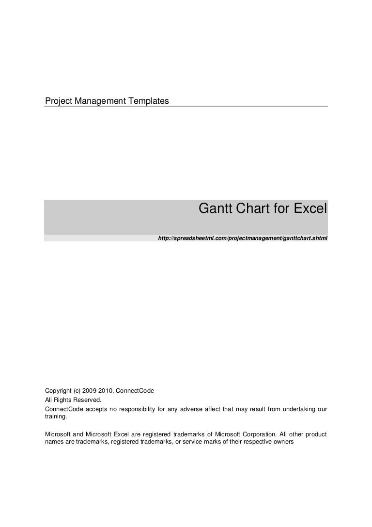 Gantt Chart Template Microsoft Excel 2010