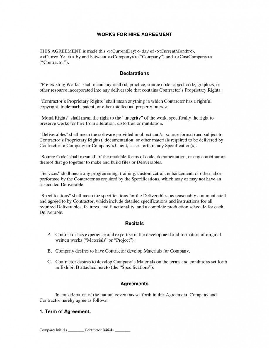 General Service Agreement Contract Template