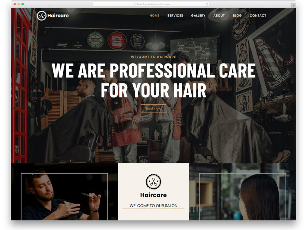 Hair Salon Website Templates Free