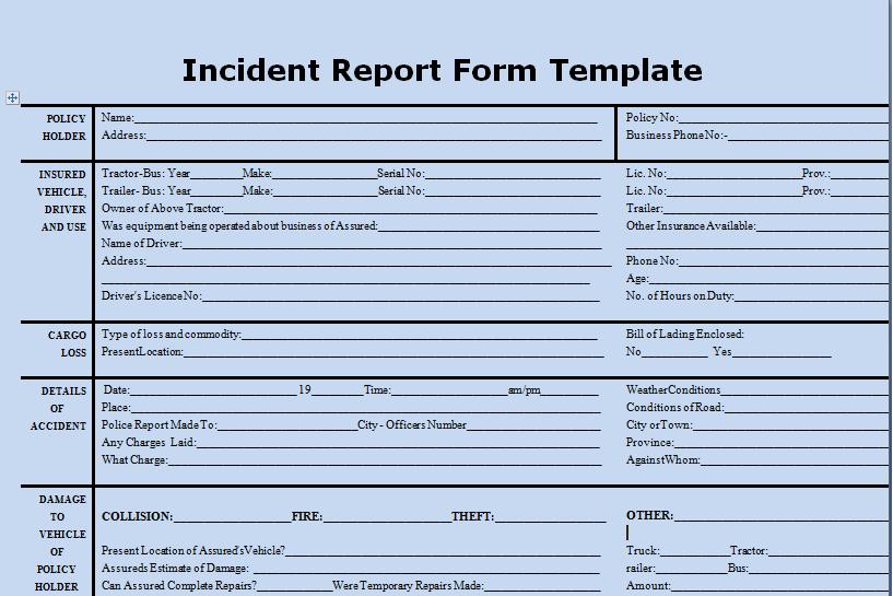 Incident Investigation Procedure Template