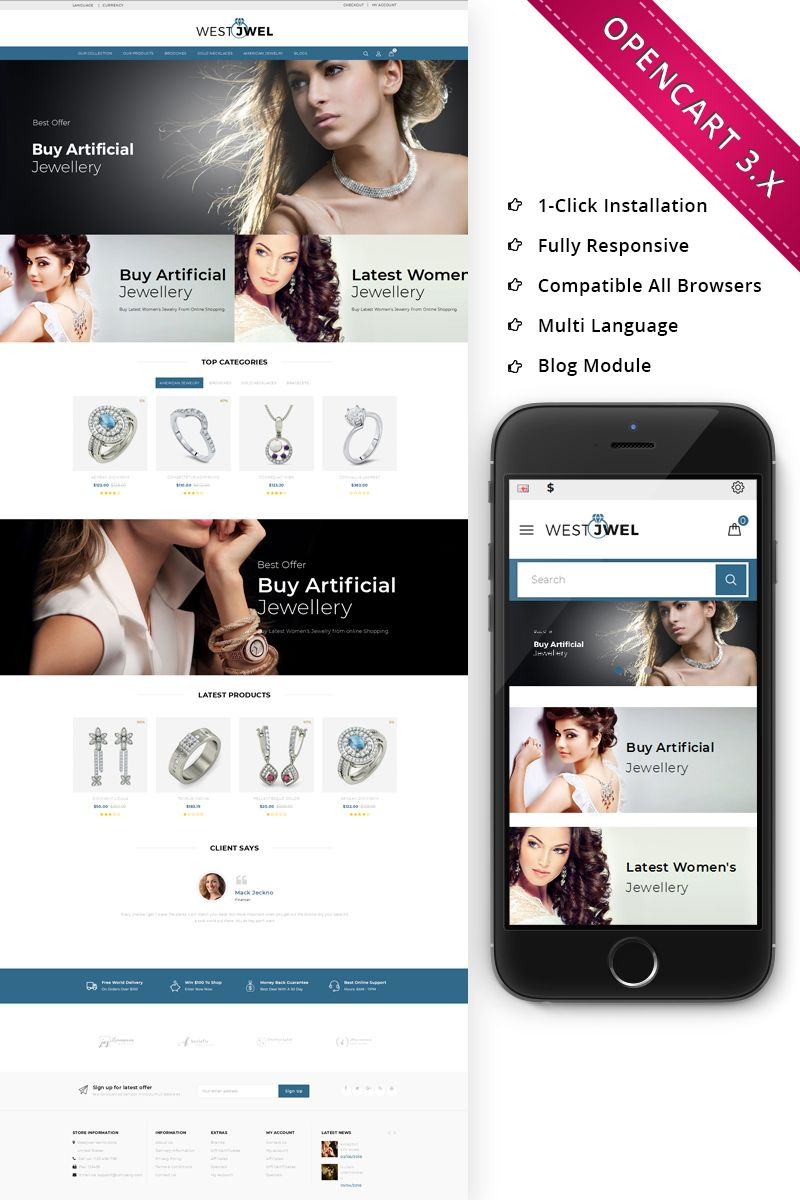 Jewellery Website Design Templates