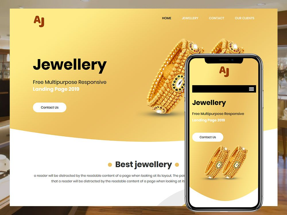 Jewellery Website Templates Html